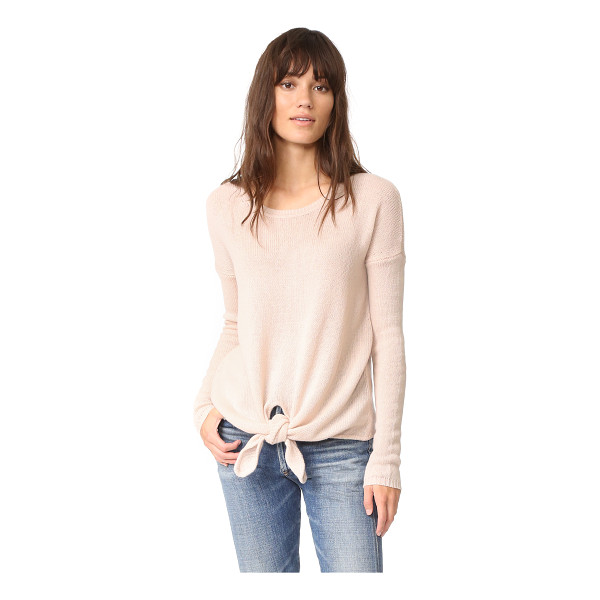 AUTUMN CASHMERE loose gg tie front sweater - A super-soft, open-knit Autumn Cashmere sweater with...