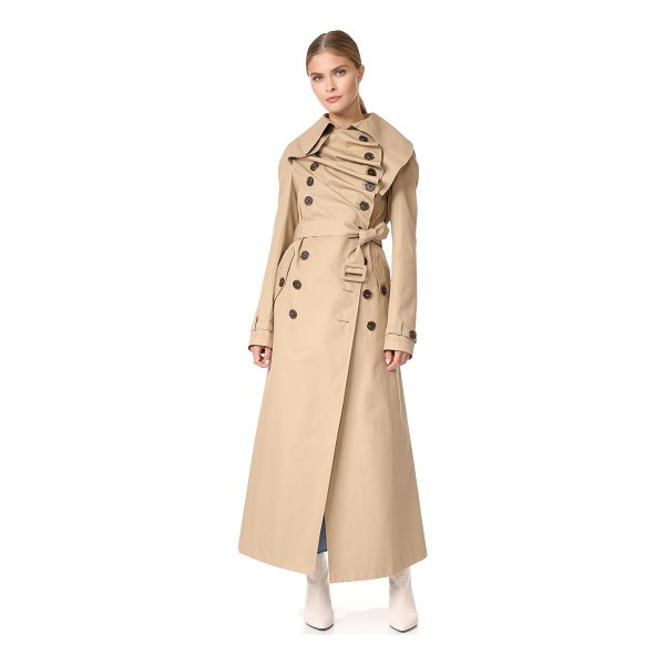 A.W.A.K.E. long trench coat - A.W.A.K.E. reinterprets the classic trench coat with...