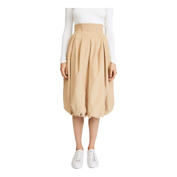 A.W.A.K.E. octopus head skirt - This pleated corduroy A.W.A.K.E. skirt has a high rise and...