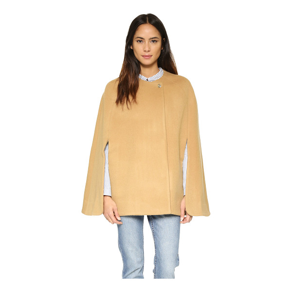 AYR The camel cloak coat - Paneled construction shapes the shoulders of this classic...