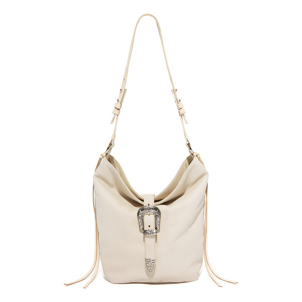 B-LOW THE BELT B-Low The Belt Nashville Shoulder Bag - An etched buckle details the fold over top of this slouchy,