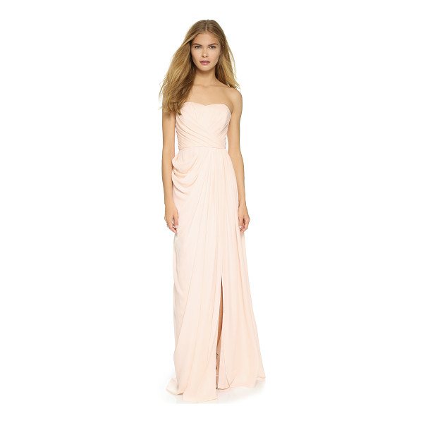 BADGLEY MISCHKA COLLECTION Bustier gown - A pleated Badgley Mischka Collection dress, styled with a...