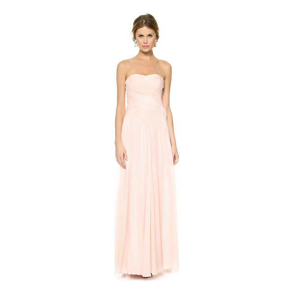 BADGLEY MISCHKA COLLECTION Draped crossover dress - Overlapping panels cascade in ruched, rippling waves on...