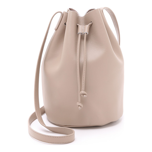 BAGGU Drawstring bucket bag - A smooth leather BAGGU bag with a drawstring bucket design.