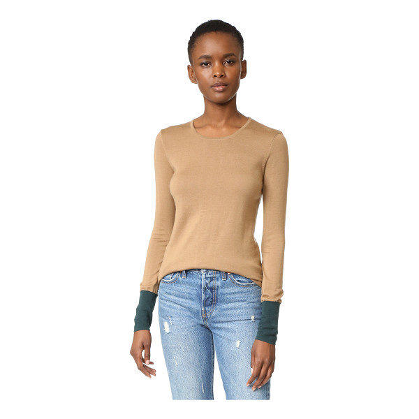 BAILEY 44 highly selective sweater - Colorblocked cuffs lend a pop of color to this soft...