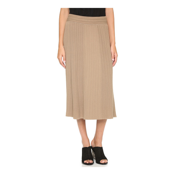 BAILEY 44 Shubert alley skirt - A soft Bailey44 A line skirt with ribbed panels and crisp...