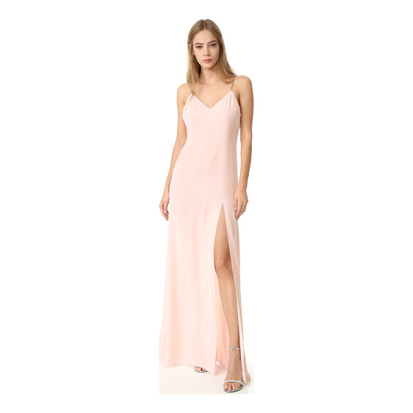 BAJA EAST sleeveless gown - Pastel velvet gives this Baja East gown a delicate, luxe...