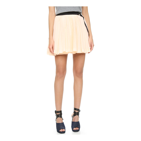 BAND OF OUTSIDERS Pleated wrap skirt - Pleating lends gentle volume to this Band of Outsiders...