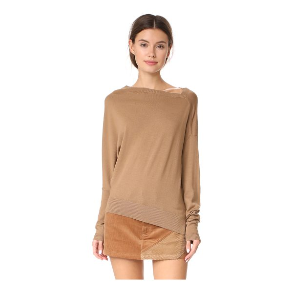 BARBARA BUI pullover sweater - This asymmetrical Barbara Bui sweater is composed of...