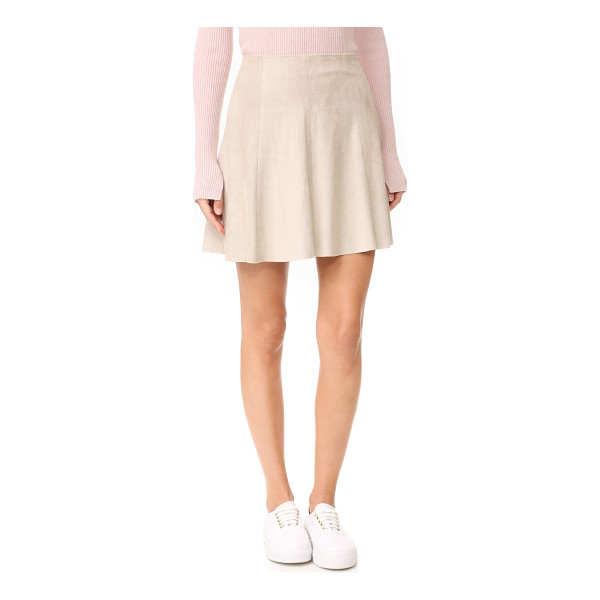 BB DAKOTA caswell faux suede skirt - A faux-suede BB Dakota skirt with a flirty feel. High waist...