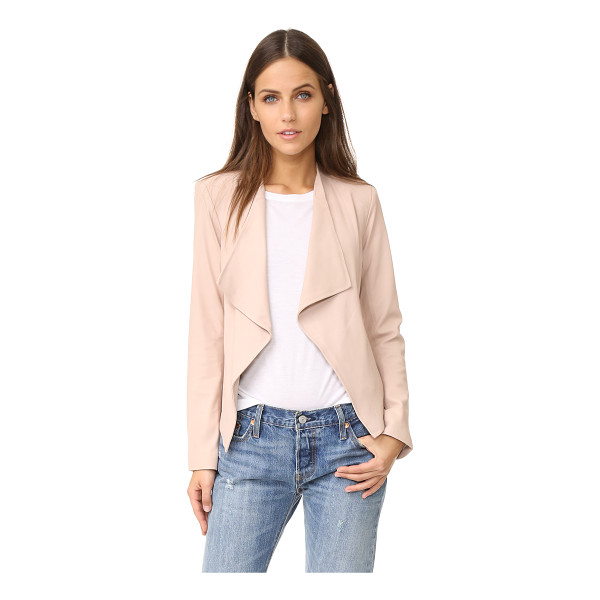 BB DAKOTA siena soft leather jacket - Draped lapels frame the open placket on this shrunken BB...