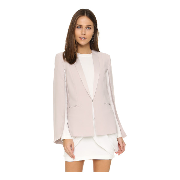 BB DAKOTA Janae crepe cape - Satin lapels accentuate the refined look of this BB Dakota...