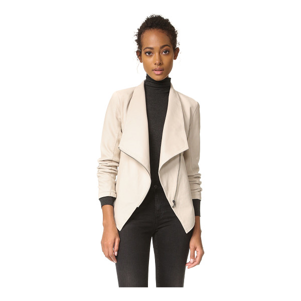 BB DAKOTA laverne jacket - A BB Dakota jacket in slick faux leather. Tonal, ribbed...