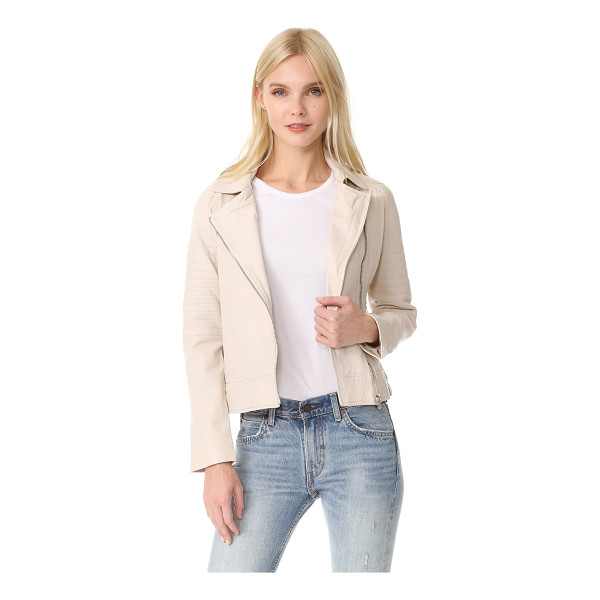 BB DAKOTA stafford washed leather jacket - Quilting accentuates the classic moto look of this leather...