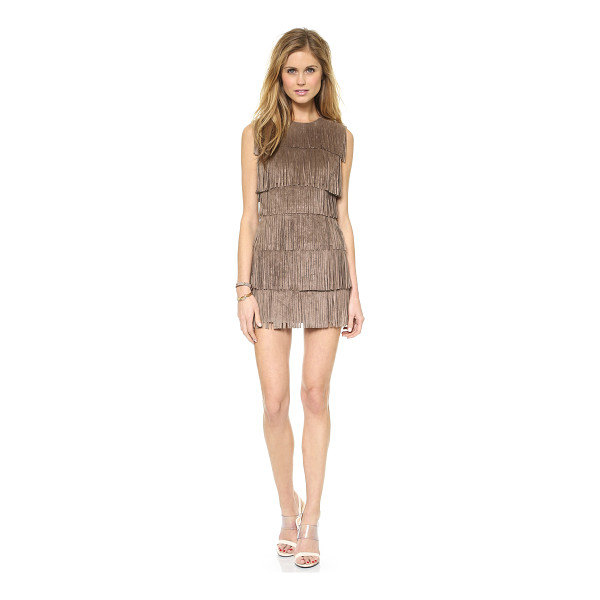BCBGMAXAZRIA Laylee fringe dress - Tiered panels of swingy fringe add a playful, bohemian...