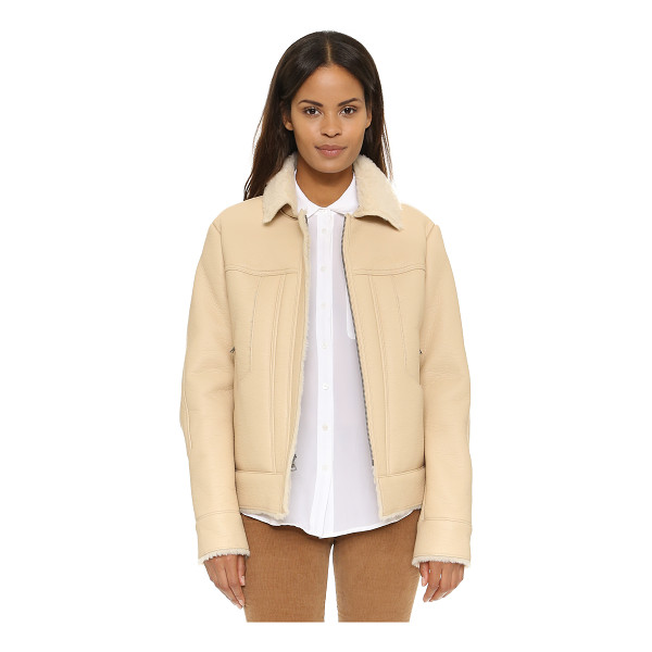 BCBGMAXAZRIA Moto jacket - A sherpa lined BCBGMAXAZRIA jacket in pebbled faux leather....