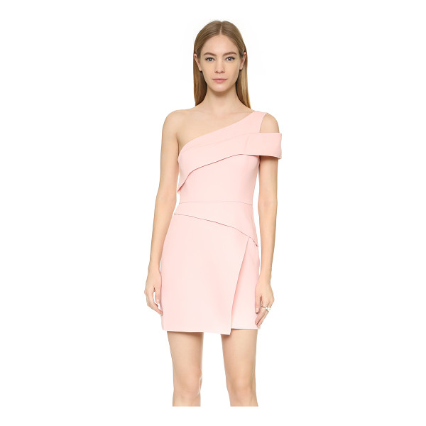 BCBGMAXAZRIA One shoulder mini dress - A single shoulder BCBGMAXAZRIA dress, styled with angular...