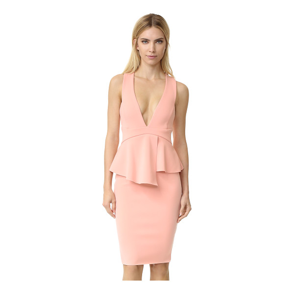 BEC & BRIDGE Banditti peplum dress - A feminine peplum defines the waist of this formfitting Bec...