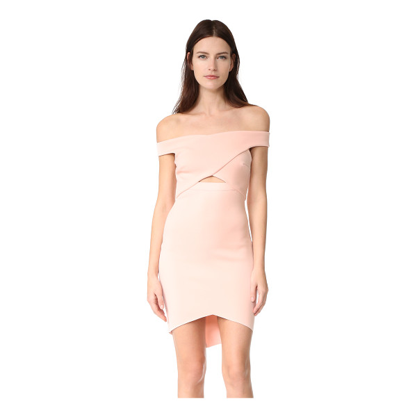 BEC & BRIDGE desert of paradise off shoulder mini dress - Exclusive to Shopbop. An angular hem and crossover bodice...