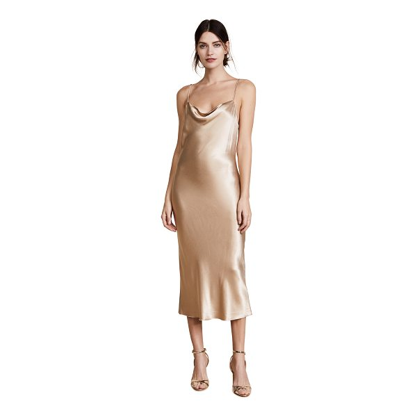 BEC & BRIDGE shimmy nights cowl midi drss - This slinky, silky Bec & Bridge midi dress has a shallow...