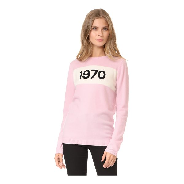 BELLA FREUD cashmere 1970 sweater - An intarsia '1970' panel adds a vintage-inspired look to...