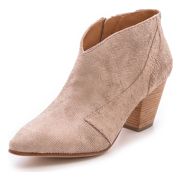 BELLE BY SIGERSON MORRISON Yoko booties - A subtle, fine scale texture gives these supple nubuck