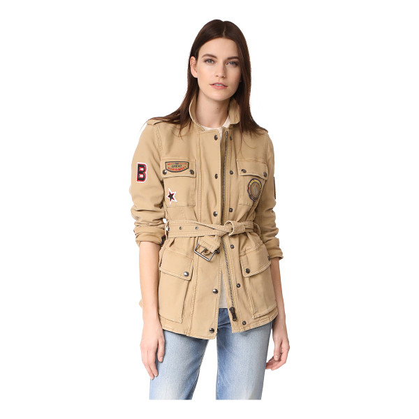 BELSTAFF hoghton cotton drill jacket - A military-inspired Belstaff jacket composed of soft,...