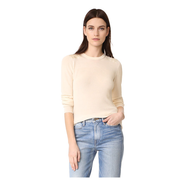BELSTAFF sonya sweater - Lustrous sateen patches accent the shoulders on this...