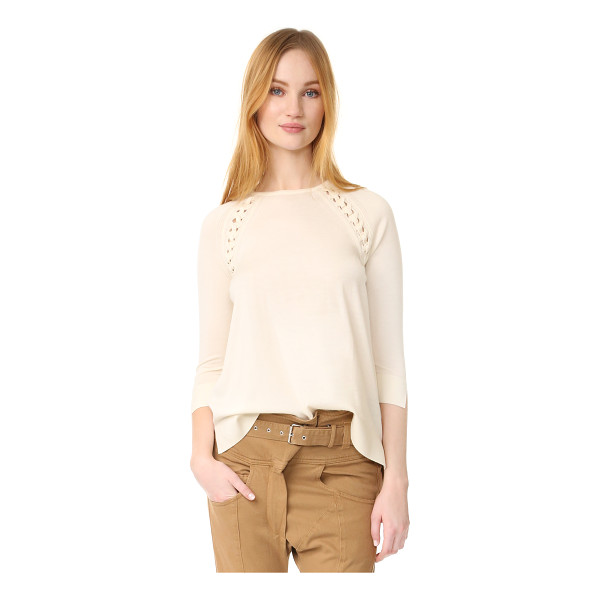 BELSTAFF stacia sweater - A soft Belstaff sweater in a loose silhouette. Tiny...