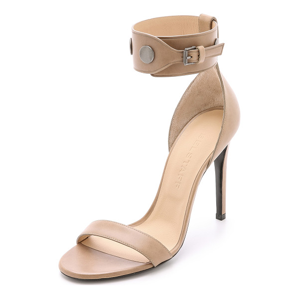 BELSTAFF Viviane studded heels - These sturdy leather Belstaff sandals have flat, oxidized...