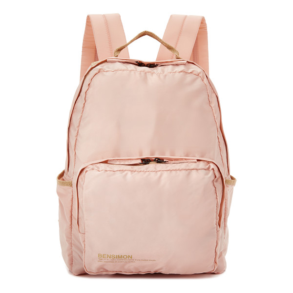 BENSIMON Backpack - This lightweight Bensimon backpack has printed logo