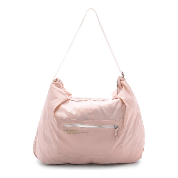 BENSIMON Shoulder bag - An oversized Bensimon tote with flecked metallic trim and