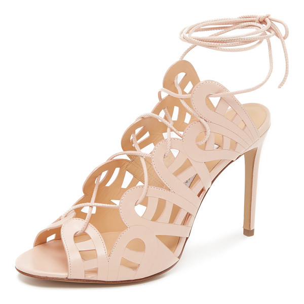 BIONDA CASTANA Hazel sandals - Lacy cutout detailing lends a delicate feel to these...