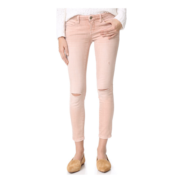 BLANK DENIM skinny jeans - Fading softens the rosy wash on these formfitting Blank...