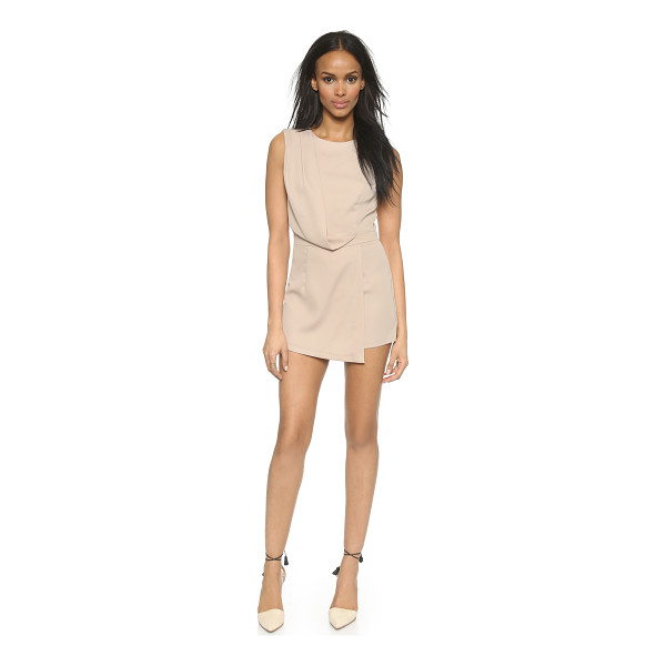 BLAQUE LABEL Faux wrap romper - A structured Blaque Label romper with a diagonal fold...