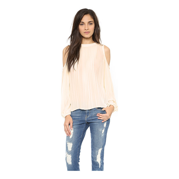 BLAQUE LABEL Pleated top - Shoulder cutouts lend a flirty look to this Blaque Label...
