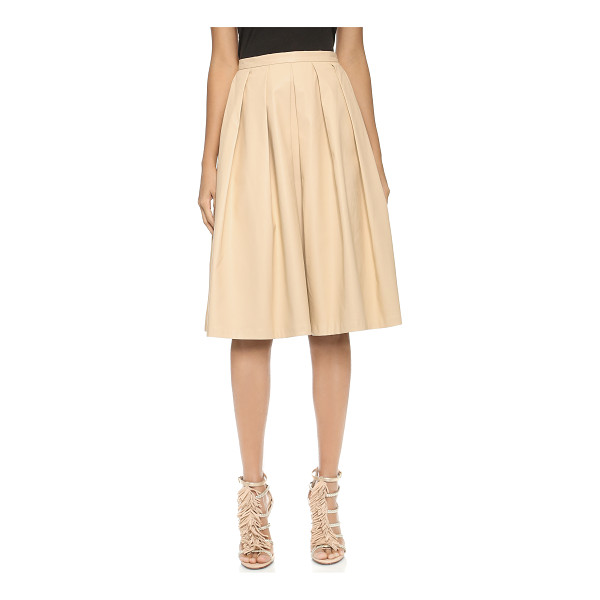 BLAQUE LABEL Vegan leather full skirt - A pleated Blaque Label skirt cut from supple faux leather....