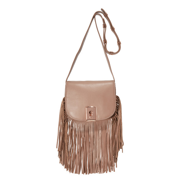 BOTKIER Botkier Clinton Fringe Saddle Bag - Swingy fringe accents the bottom of this petite Botkier...