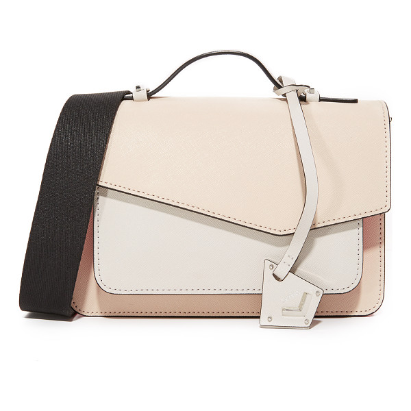 BOTKIER colorblock cobble hill cross body bag - A colorblocked Botkier cross-body bag with polished