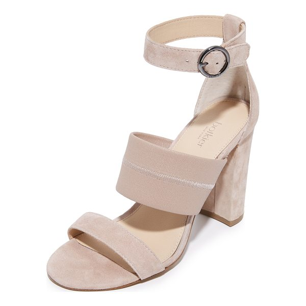 BOTKIER gisella sandals - Suede Botkier sandals featuring a wide, tonal elastic...