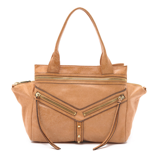 BOTKIER Large trigger satchel - A large Botkier satchel in glazed leather with polished...