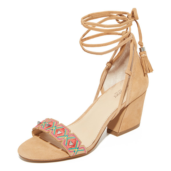 BOTKIER penelope city sandals - Pyramid studs detail the embroidered and notched vamp on