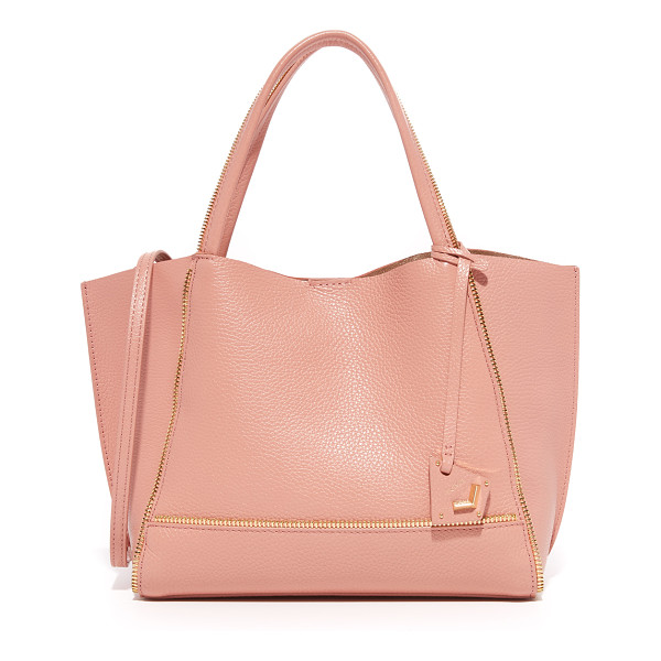 BOTKIER soho bite size tote - Exposed zip trim lends a deconstructed edge to this pebbled...