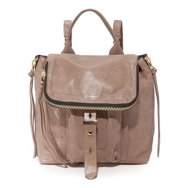 BOTKIER warren backpack - Glazed, wrinkled leather composes this mid sized Botkier...