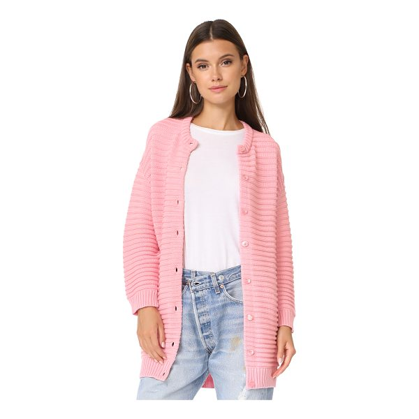 BOUTIQUE MOSCHINO long sweater cardigan - This cozy, chunky-knit Boutique Moschino cardigan has a...