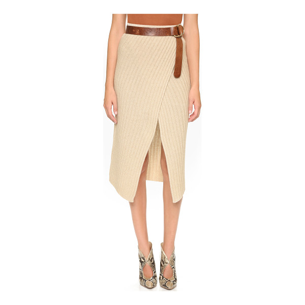 BROCHU WALKER Loma ribbed knit skirt - A classic Brochu Walker skirt rendered in a ribbed knit. A...