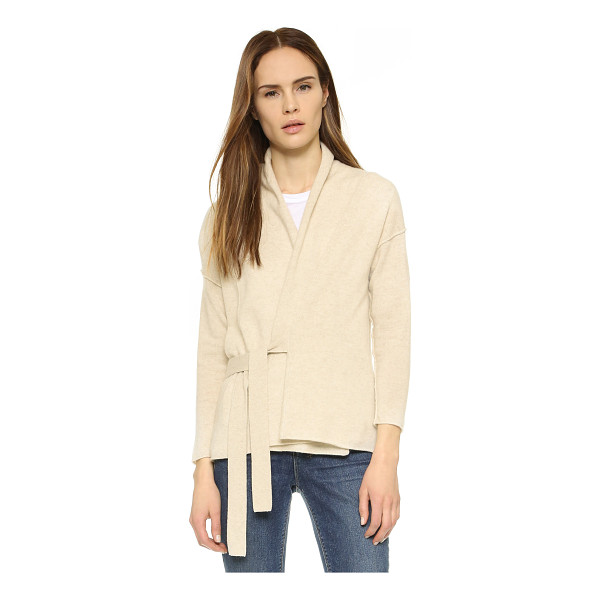 BROCHU WALKER Newport cashmere cardigan - Ties fasten the placket of this simple cashmere Brochu...