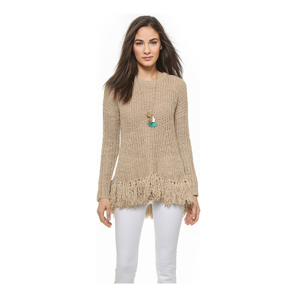BY MALENE BIRGER Donnalie fringe bottom sweater - Thick tassels accentuate the flared hem of this By Marlene...