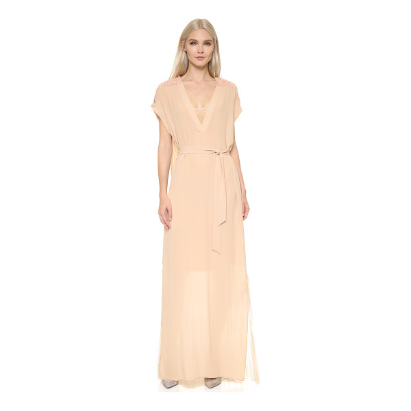 BY MALENE BIRGER Lanola maxi dress - Intricate beading highlights the shoulders of this airy By...