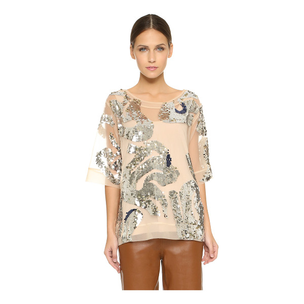 BY MALENE BIRGER Lipoh embellished top - Glamorous double sided sequins are an all over accent on...